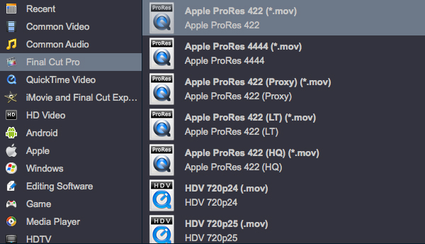 Convert H.265/HEVC to ProRes MOV for FCP (FCP X, FCP 7, FCP 6)