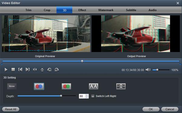 Edit Video - Add 3D effects onto 4K video