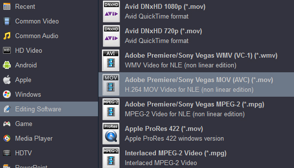Convert MXF to Premiere Elements supported format