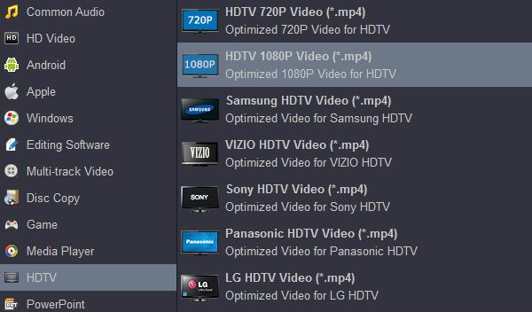 Convert Blu-ray to Samsung 4K TV formats